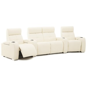 4-Seat Reclining Home Theater Sectional