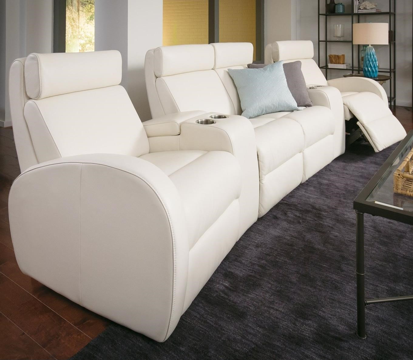 4-Seat Pwr Reclining Home Theater Set