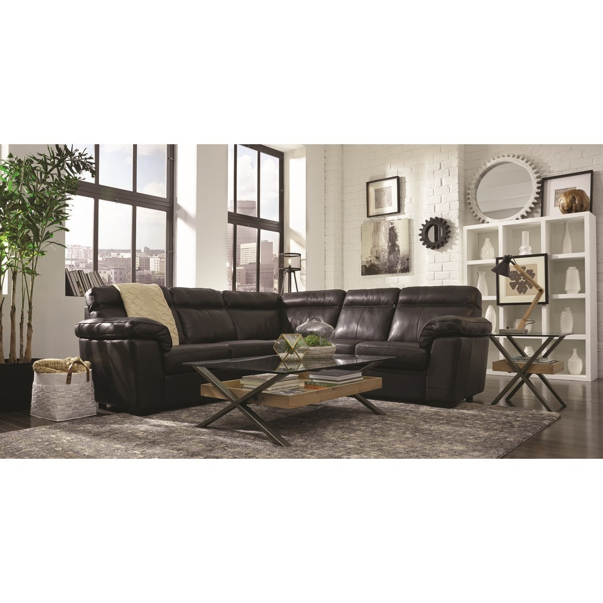 Palliser Kingston Casual 3 Piece Sectional With Pillow