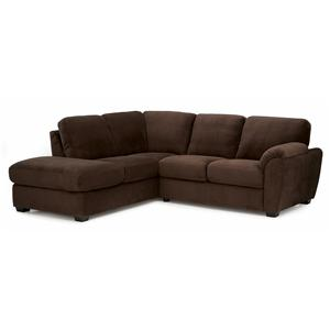Palliser Lanza Two Piece Sectional Sofa with RHF Chaise