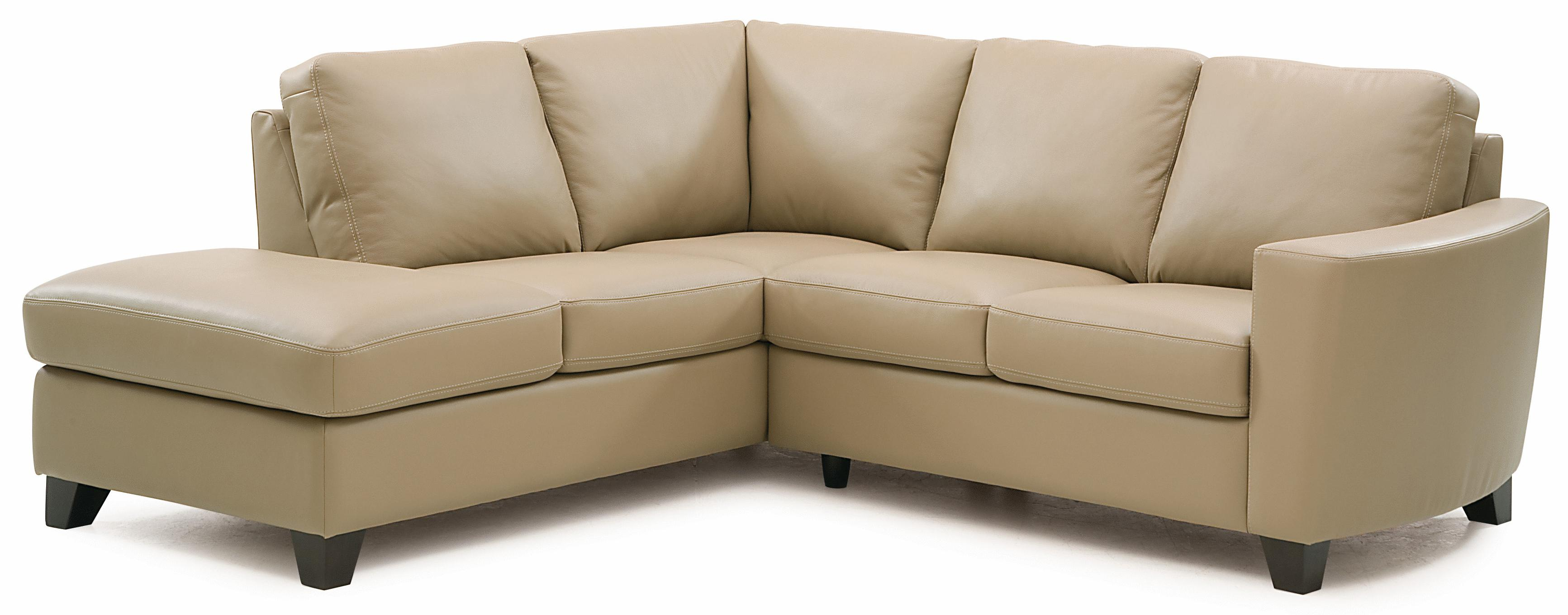 palliser leeds contemporary 2 piece sectional with laf chaise
