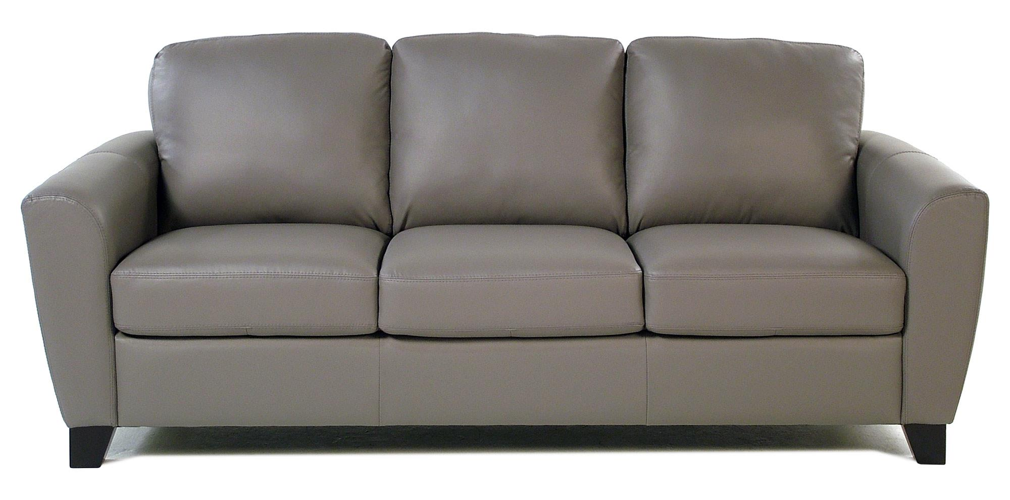 Stormy Contemporary Leather Sofa with Flair-Tapered Arms by Palliser at  Rotmans