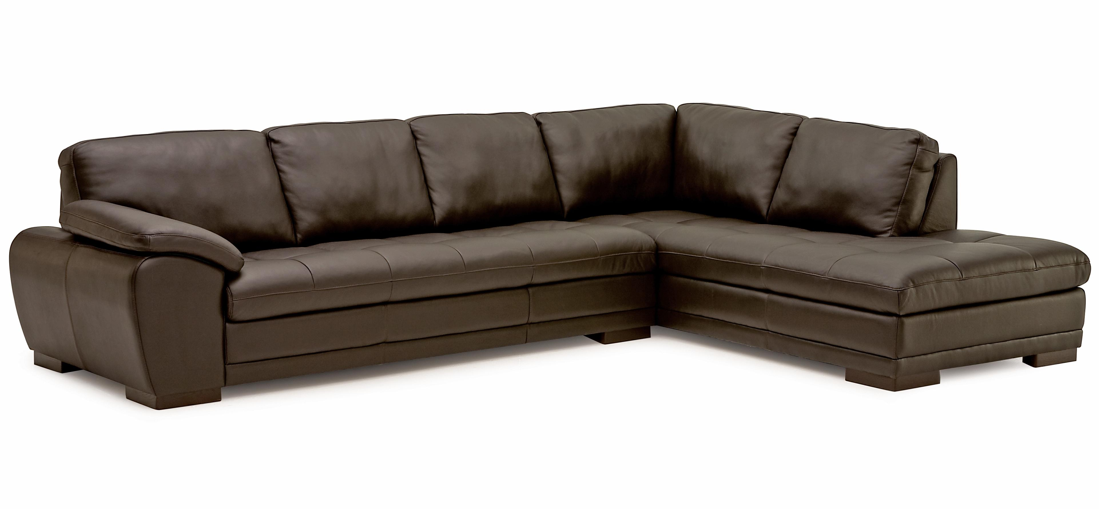 Palliser miami contemporary 2 piece sectional sofa with for Chaise contemporary