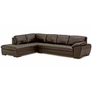 Palliser Miami Contemporary Sectional Sofa with Chaise