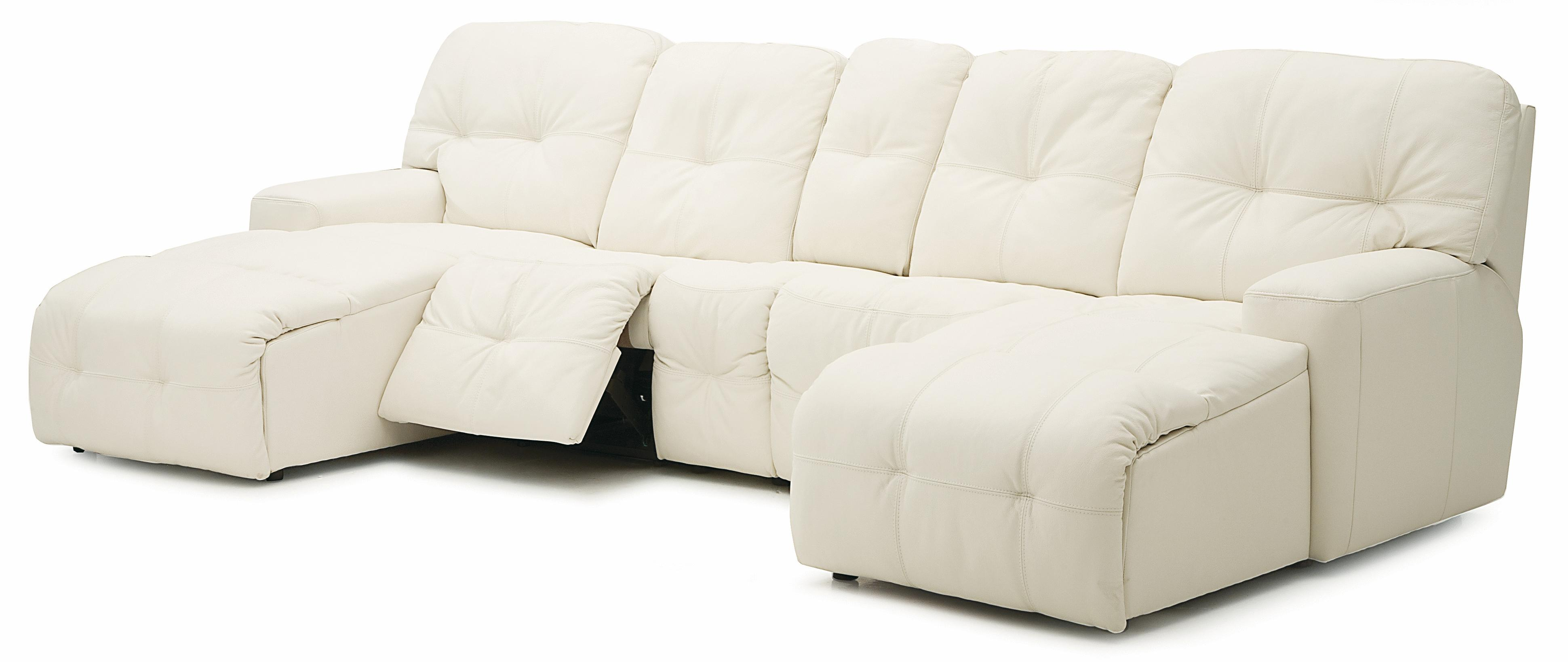 Palliser mystique transitional power reclining sectional for Chaise and recliner