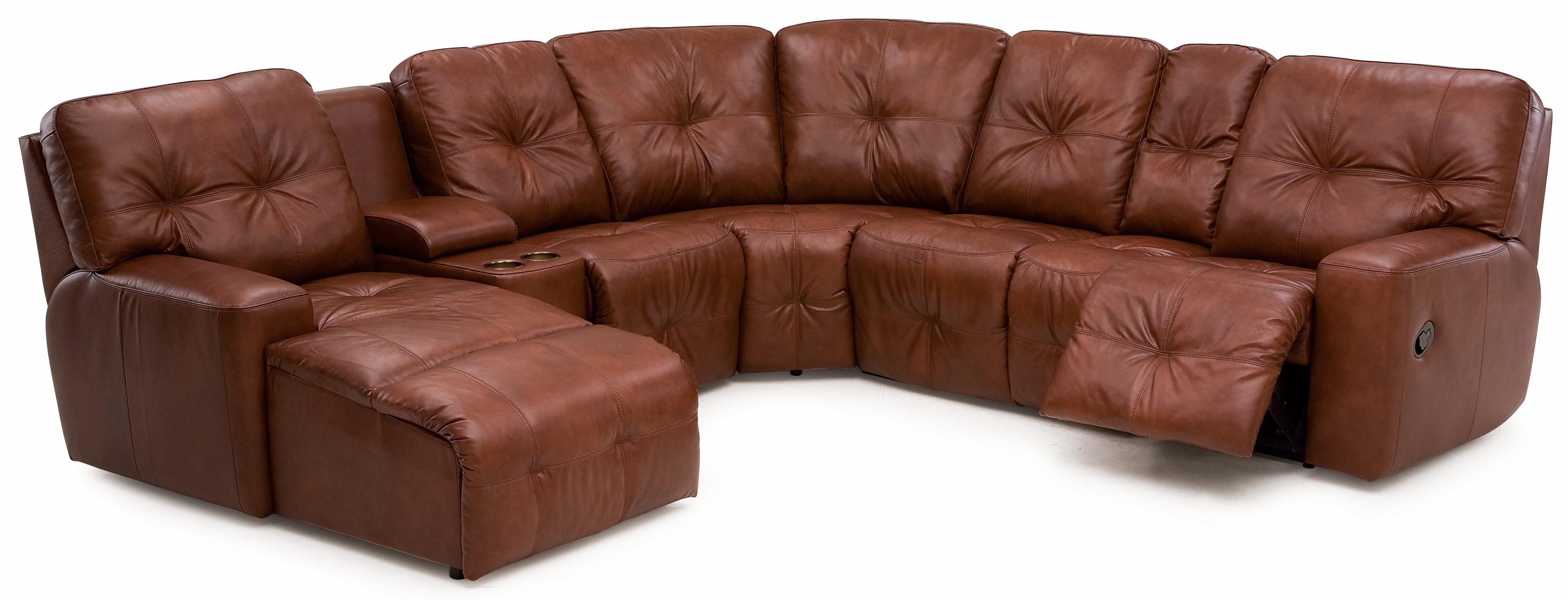 Palliser mystique transitional reclining sectional sofa with drop palliser mystique transitional reclining sectional sofa with drop down table and cupholder console geotapseo Choice Image