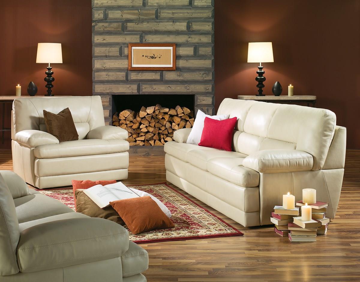 Palliser Northbrook 77555 01 Contemporary Sofa W Pillow