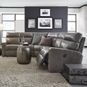 Palliser Oakwood Reclining Sectional Sofa - Item Number: 41049-54+09+55-Fireside Driftwood