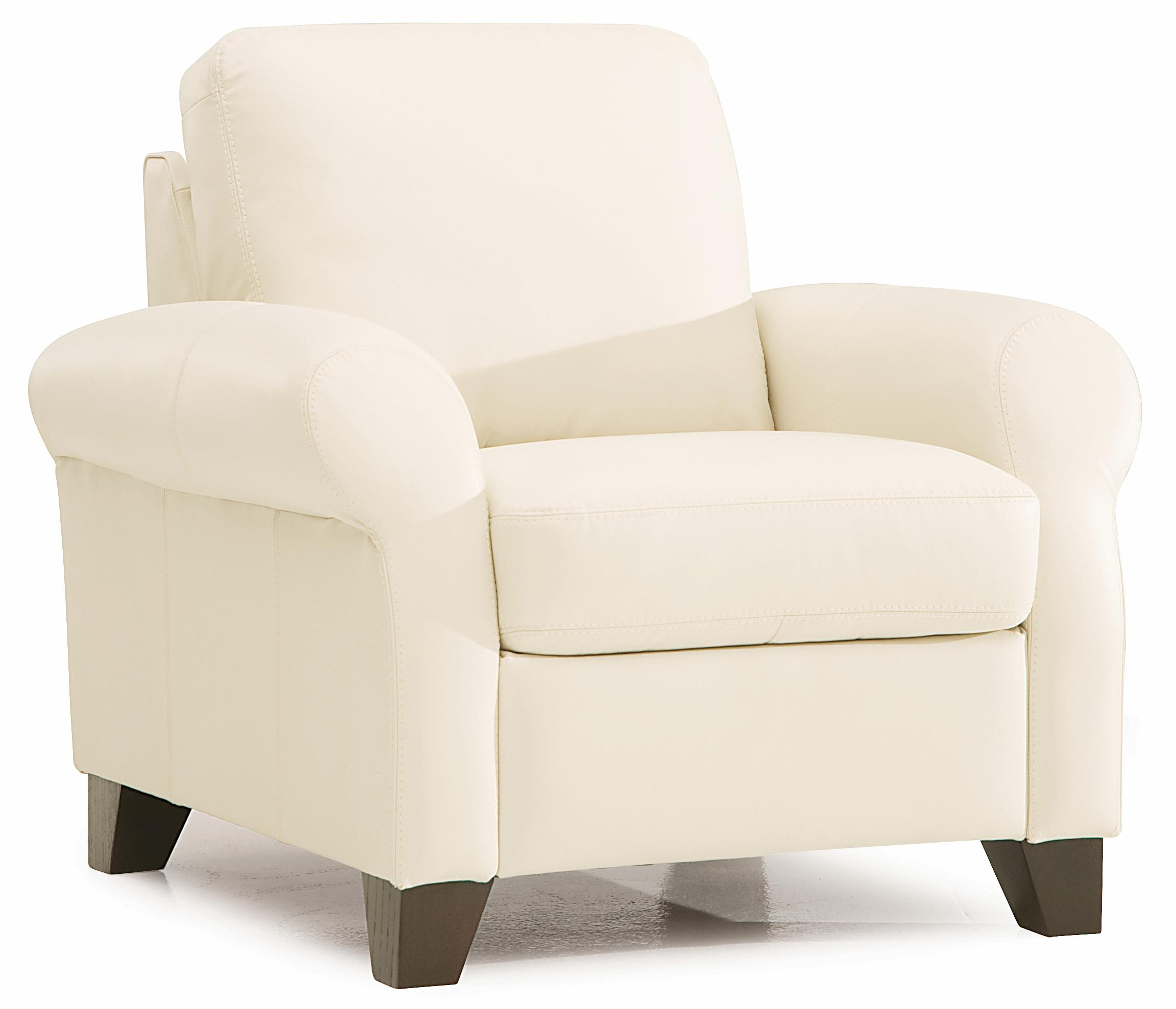 Palliser Ottawa 77338 02 Transitional Chair With Sock Arms And Wood Legs Dunk Bright