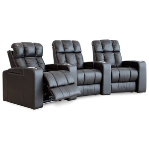 Casual Theater Seating Power Reclining Sectional