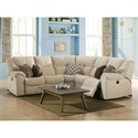 Palliser Parkville Reclining Sectional - Item Number: 41029-47+10+09+10+46-Dax Cream