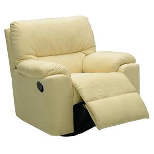 "Palliser Picard 37"" Casual Leather Rocker Recliner"