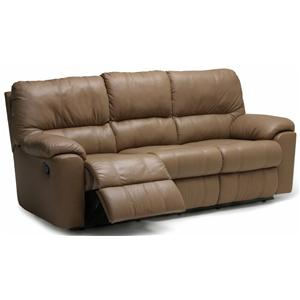 "Palliser Picard 88"" Casual Leather Reclining Sofa"