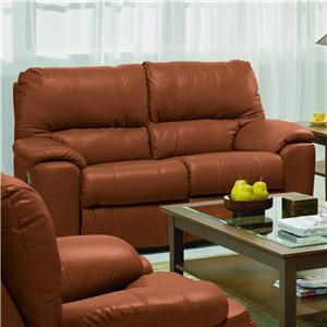 "Palliser Picard 66"" Casual Leather Reclining Loveseat"