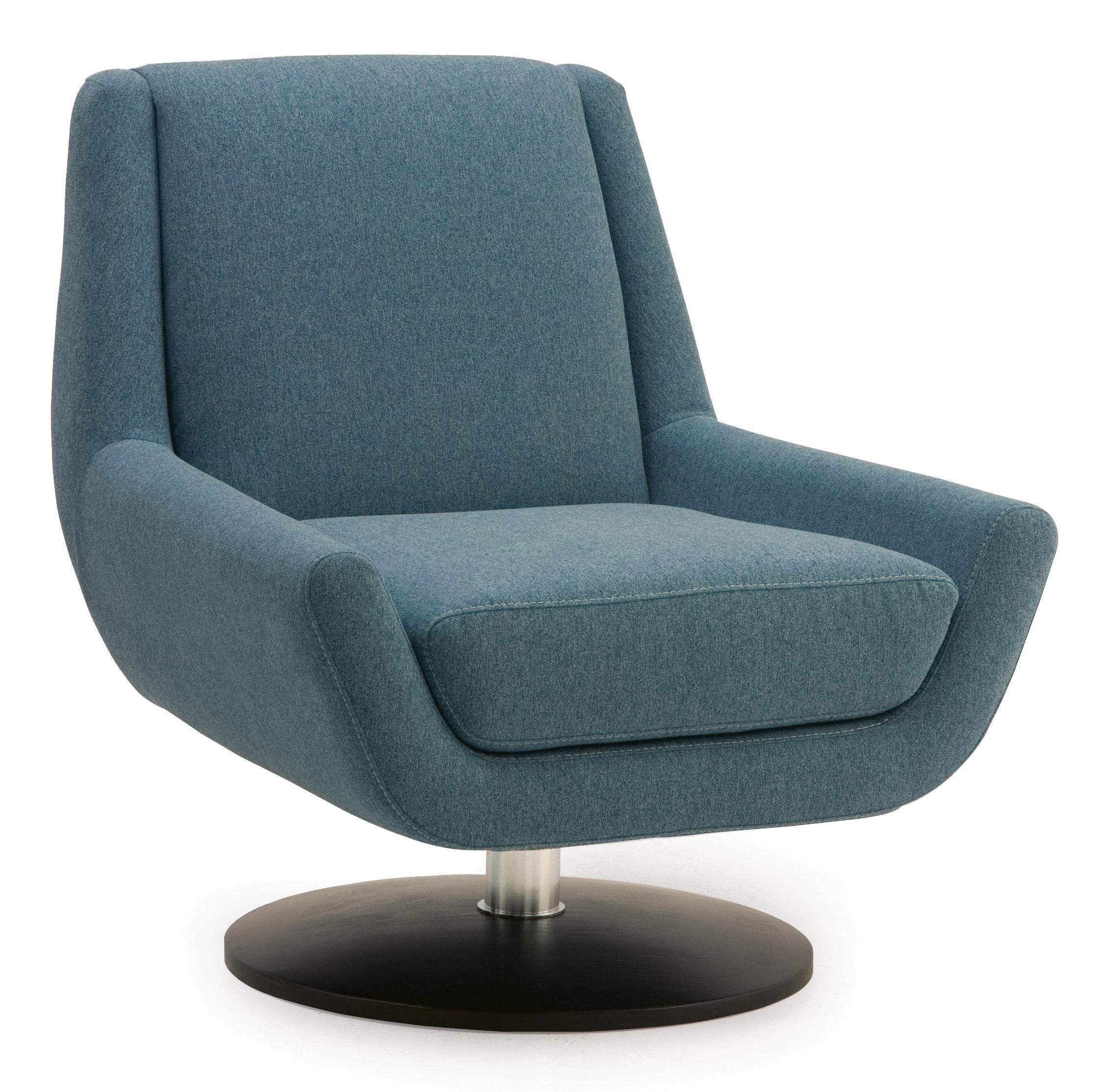 Palliser Plato Contemporary Swivel Chair with Metal Base Dunk