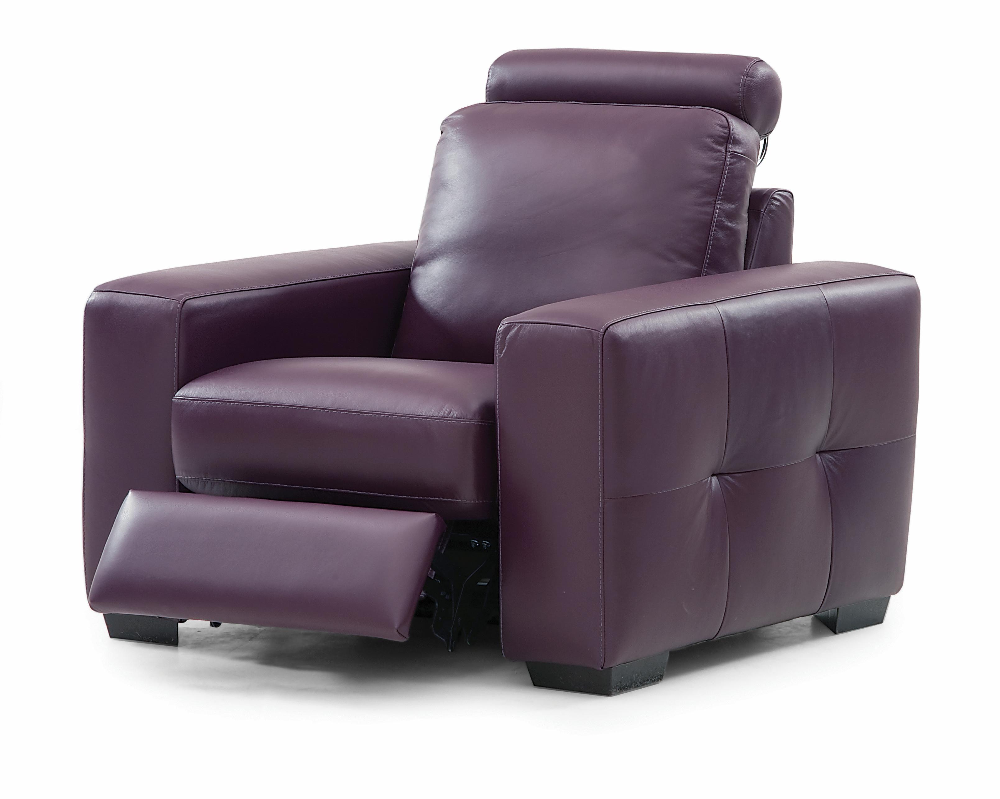 Palliser Push Contemporary Reclining Chair with Round Headrest