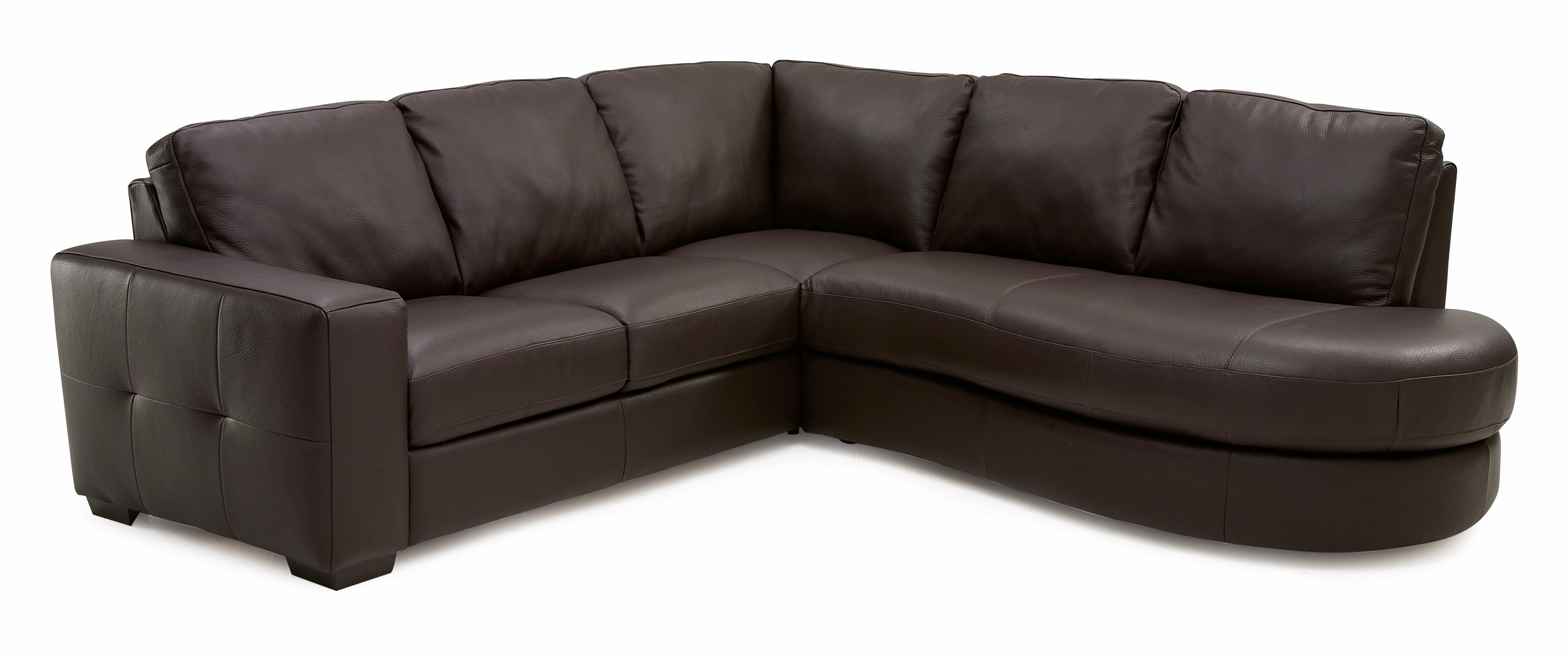 Palliser Push Contemporary Dual Reclining Sectional Sofa AHFA