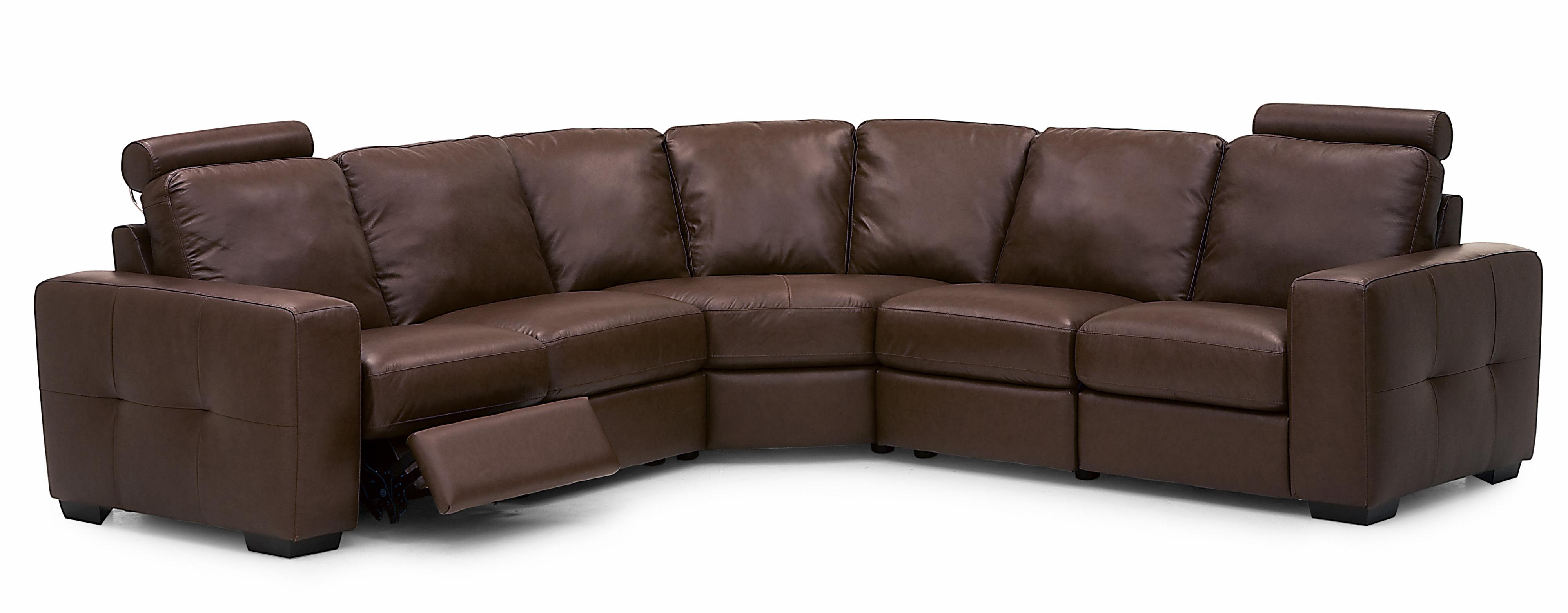 Palliser Push Contemporary Dual Reclining Sectional Sofa