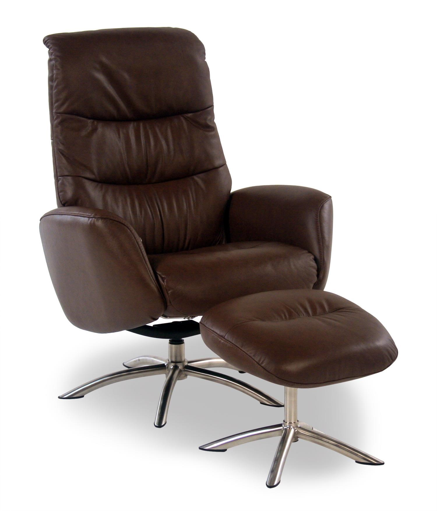 Palliser Quantum Leather Reclining Chair and Ottoman - Item Number: 50003-02-MOCHA