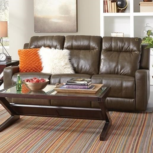 Palliser Redwood Power Reclining Sofa - Item Number: 41057-61-Carnival Moss