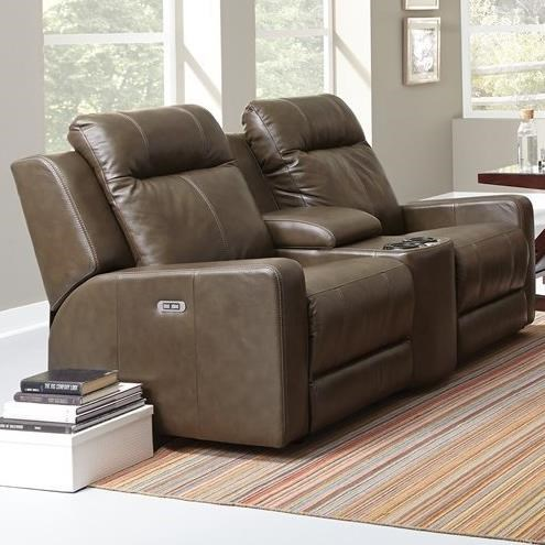 Palliser Redwood Power Reclining Console Loveseat - Item Number: 41057-68-Carnival Moss