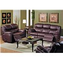 Palliser Regent Reclining Leather Loveseat - Shown with Coordinating Reclining Sofa