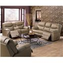 Palliser Regent Reclining Console Loveseat with Cupholders - 41094-58 - Shown with Coordinating Sofa and Chair