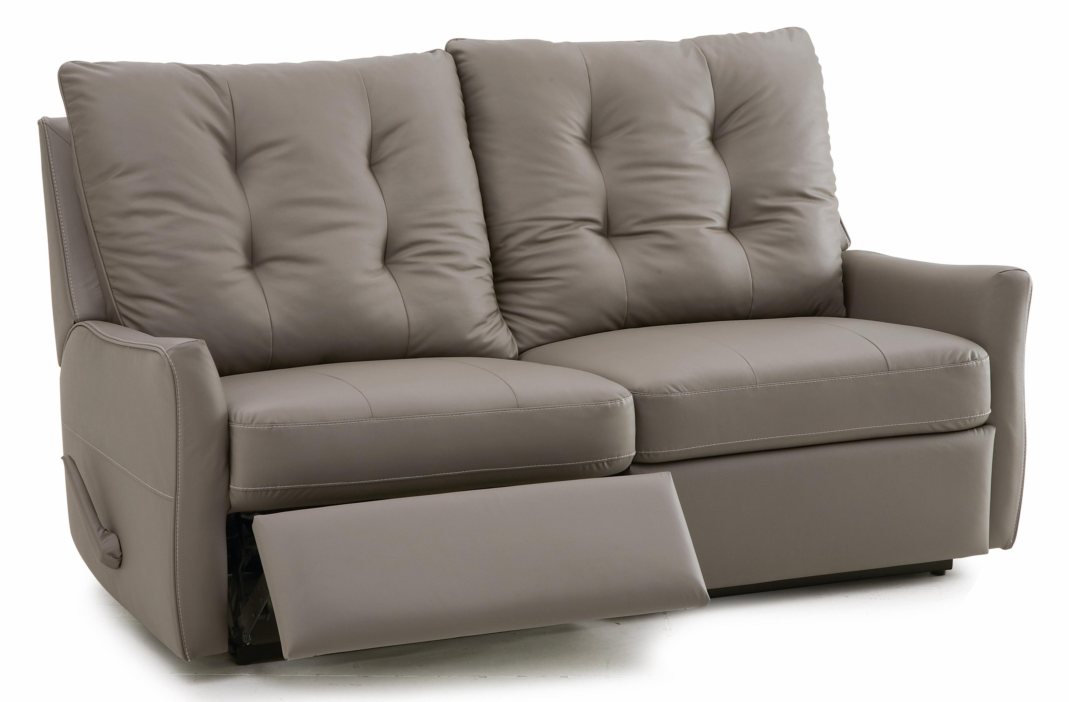 palliser ryan contemporary loveseat recliner with button tufted