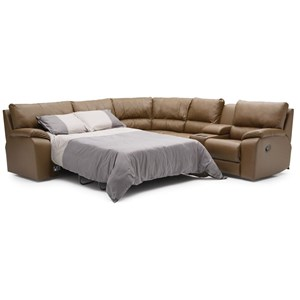 Manual Reclining Sectional with LAF Sofabed