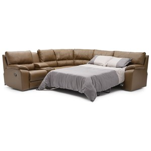 Power Reclining Sectional with RAF Sofabed