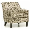 Palliser Somerset Contemporary Accent Chair with Flair Tapered Arms and Rolled Back