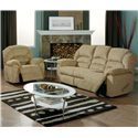 Palliser Taurus Luxurious Reclining Sofa - Shown in Room Setting with Rocker Recliner
