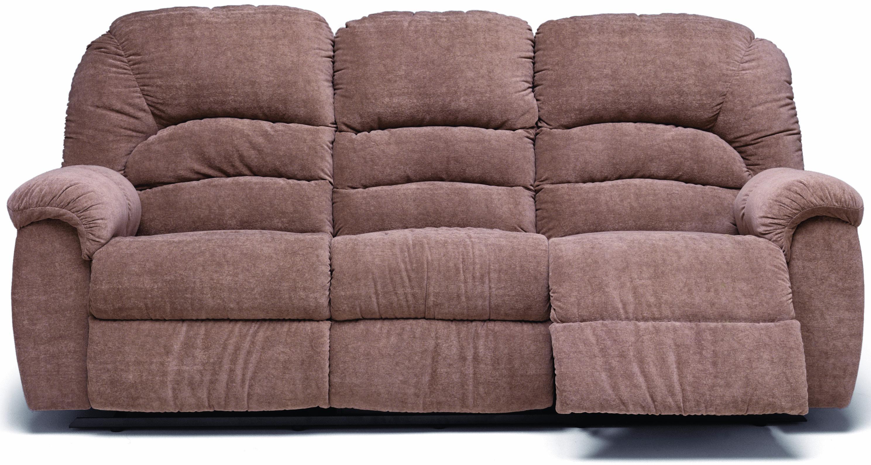 Palliser Taurus Casual Reclining Sofa With Center Drop