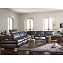 Palliser Titan 4-Seat Sectional Sofa w/ Pwr Head & 2 Reclin - Item Number: 44004-181+2X2P+9A+17
