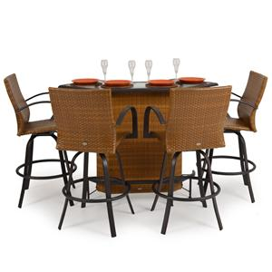 Palm Springs Rattan Empire 5 Pc. Outdoor Bar Set