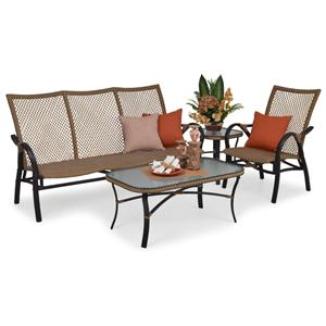 Palm Springs Rattan Empire Outdoor Seating Set