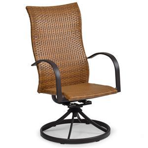 Palm Springs Rattan Empire Swivel Tilt High Back Dining Chair