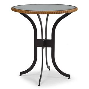 """Palm Springs Rattan Empire 36"""" Round Bar Height Table"""