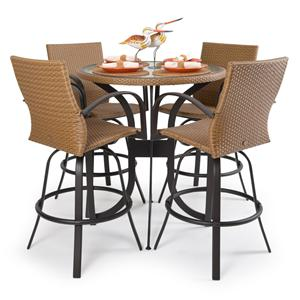 Palm Springs Rattan Empire 5 Pc. Bar Dining Set