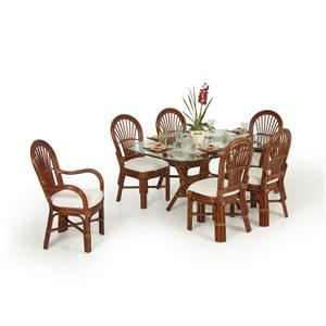 Palm Springs Rattan Islamorada Dining Table