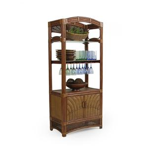 Palm Springs Rattan Islamorada Etagere/Wine Rack