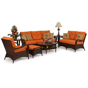Palm Springs Rattan Kokomo 7 Pc. Seating Set