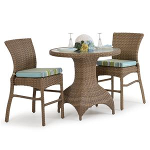 Palm Springs Rattan Kokomo 3 Pc. Counter Height Dining Set