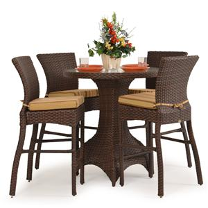 Palm Springs Rattan Kokomo 5 Pc. Counter Height Dining Set