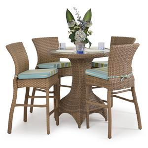 Palm Springs Rattan Kokomo 5 Pc. Bar Dining Set