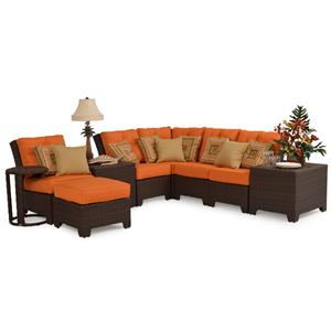 Palm Springs Rattan Kokomo Outdoor Sectional 9PC Set
