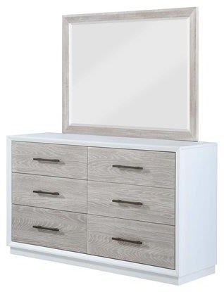 Boca Grande DRESSER and Landscape MIRROR by Panama Jack by Palmetto Home at Johnny Janosik