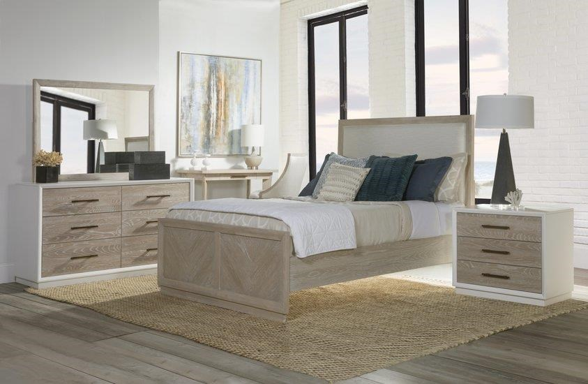 Boca Grande QUEEN Upholstered PANEL BEDROOM by Panama Jack by Palmetto Home at Johnny Janosik