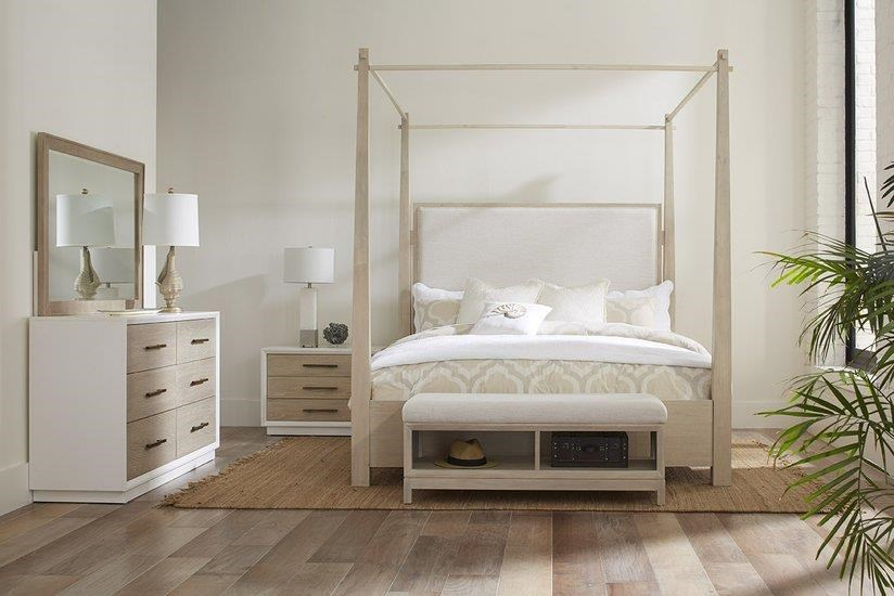 Boca Grande KING Upholstered Canopy Bed by Panama Jack by Palmetto Home at Johnny Janosik