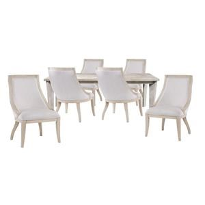 Dining Table and 6 Sling Chairs